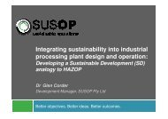 Integrating sustainability into industrial ... - Sustainability Live