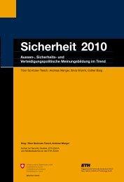 Sicherheit 2010 - Center for Security Studies (CSS) - ETH Zürich