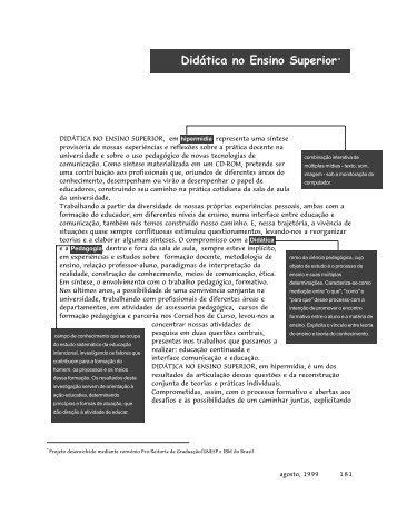 Didática no Ensino Superior* - SINPRO-DF