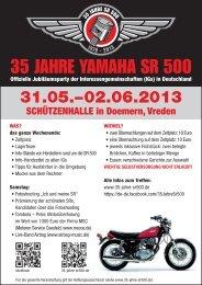 35 JAHRE YAMAHA SR 500 - Schwabeneintopf