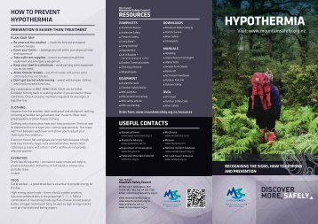 Hypothermia - New Zealand Mountain Safety Council