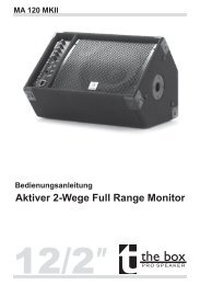 Bedienungsanleitung Aktiver 2-Wege Full ... - Musikhaus Thomann
