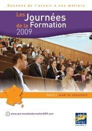 Journees de la Formation Paris - Fafiec