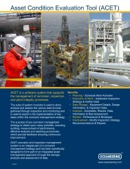 Asset Condition Evaluation Tool (ACET) - Oceaneering