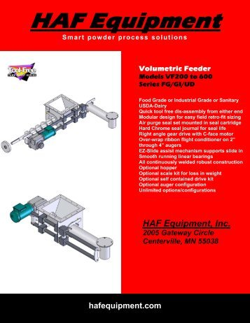 Volumetric Feeder Brochure - Mcschroeder.com