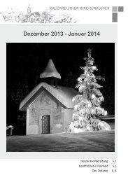 Dez. 2013 - Jan. 2014 - Evang.-Luth. Kirchengemeinde Kalchreuth
