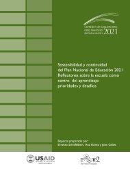 Sostenibilidad y Continuidad del Plan Nacional de ... - EQUIP123.net
