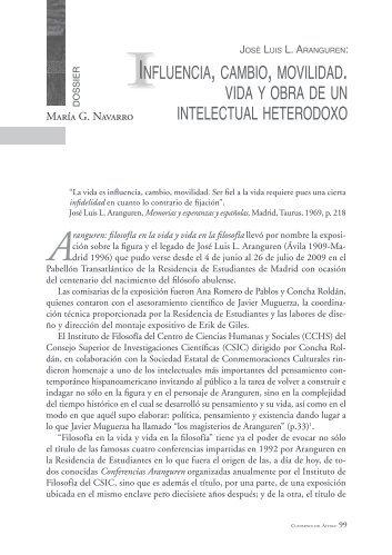 influencia, cambio, movilidad. vida y obra de un intelectual heterodoxo