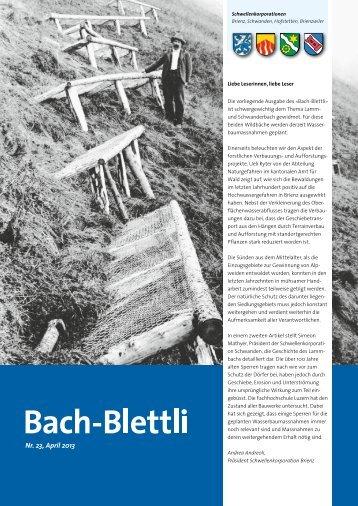Nr. 23, April 2013 - schwellenkorporationen.ch