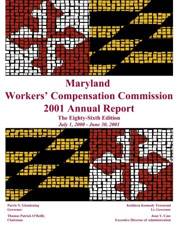 Annual Report FY2001 - Maryland Workers' Compensation ...