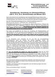 Den Stromvertrag für 2013 erhalten Sie in der Anlage - WTG ...
