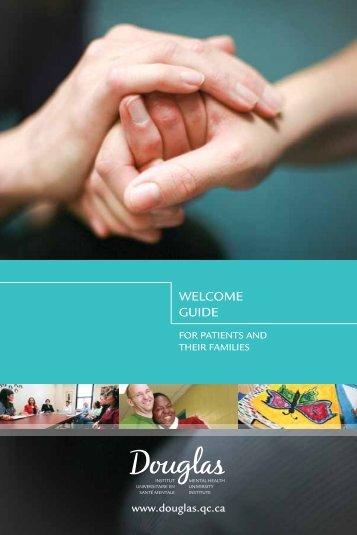WELCOME GUIDE - Institut universitaire en santé mentale Douglas