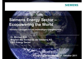 Siemens Energy Sector – Ecopowering the World