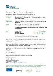 Einladung Lunchvortrag 03. April 2012 - Marketingclub Saar