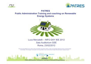 PATRES Public Administration Training and ... - Corrente - Gse