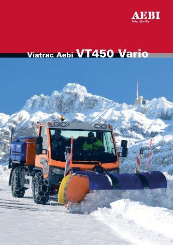 Viatrac Aebi VT450 Vario - Lectura SPECS