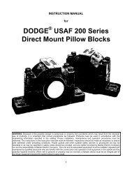 DODGE USAF 200 Series Direct Mount Pillow Blocks - Baldor