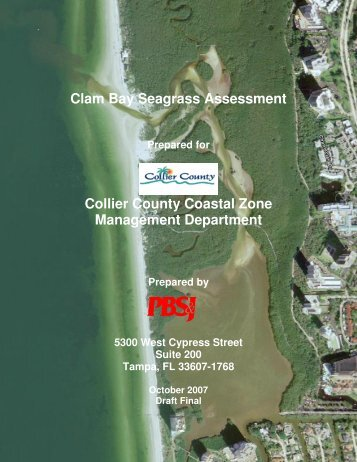 Clam Bay Seagrass Assessment Collier County Coastal Zone ...