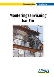 Monteringsanvisning Iso-Fin - Finja