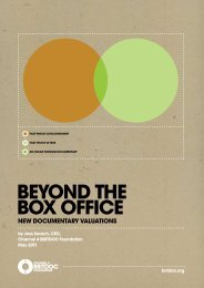 BEYOND THE BOX OFFICE - International Documentary Association