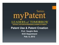 Patent Use & Patent Creation - Computer Engineering Research ...
