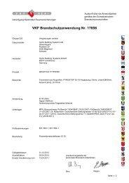 VKF Brandschutzanwendung Nr. 17856 - Wicona.ch