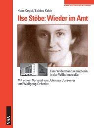 Ilse Stöbe: Wieder im Amt - VSA Verlag