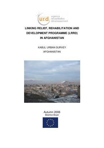 Kabul Urban Survey - Groupe URD