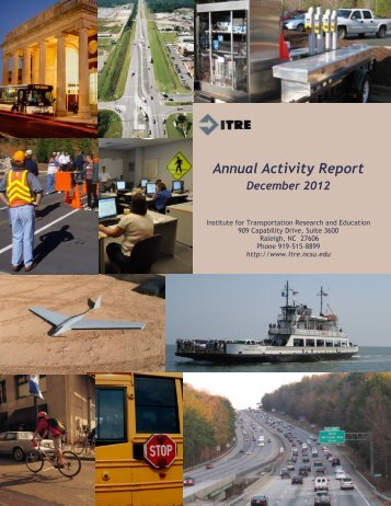 Annual Activity Report - Institute for Transportation Research and ...