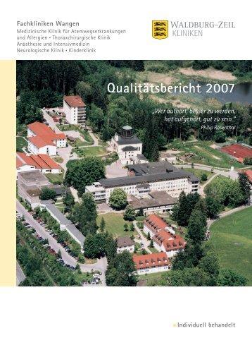 Qualitätsbericht 2007 - Weisse Liste