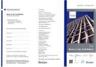 Beton in der Architektur - EGS-Plan