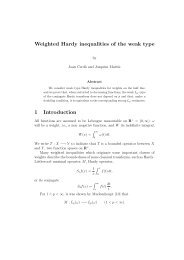 Weighted Hardy inequalities of the weak type 1 Introduction