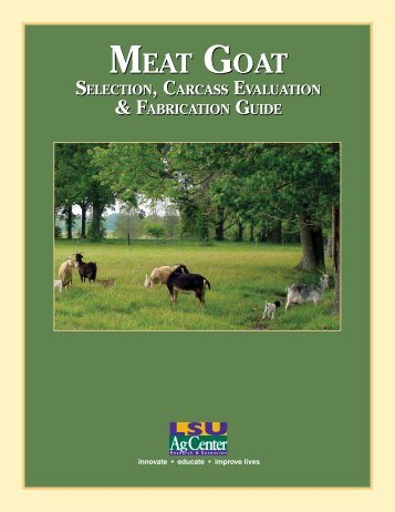 MEAT GOAT MEAT GOAT - Department of Animal Science