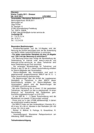 Ausschreibung - Warsteiner-reitverein.de