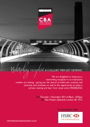 CBA HSBC - London Chamber of Commerce and Industry