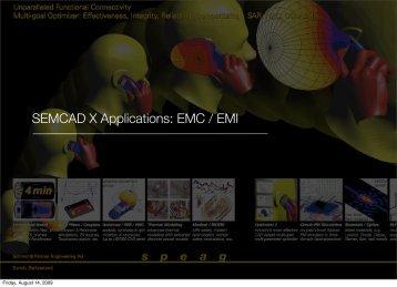 SEMCAD X Applications: EMC / EMI