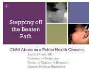 Creating a Child Abuse Public Health Agenda: Stepping off the ...