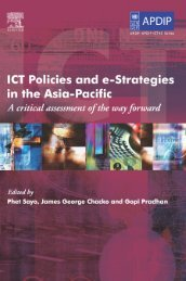 ICT Policies and e-Strategies in the Asia-Pacific - Digital Knowledge ...
