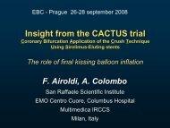 CACTUS trial - Bifurc.net
