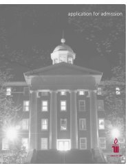 application for admission - Wittenberg University