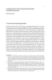 Auswirkungen des neuen Unternehmensgesetzbuchs auf (Berufs ...
