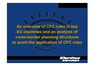 An overview of CFC rules in key EU countries and an analysis of ...