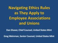 Navigating Ethics Rules as They Apply to Employee Associations ...