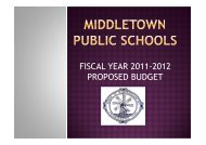 Final Budget Presentation - Middletown School District