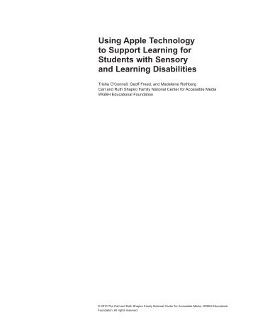 Using Apple Technology to Support Learning  for Students  with ...