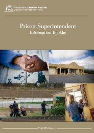 Prison Superintendent - Department of Corrective Services