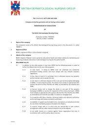 Memorandum and Articles of Assocation - BDNG