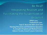 Be Real! Integrating Realism and Facilitating the Suspension of ...