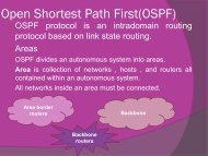 Routing Protocols (Part III)