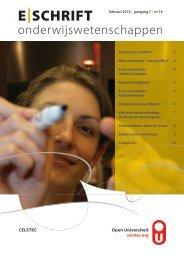 E-schrift - veertiende uitgave februari 2012 - OpenU